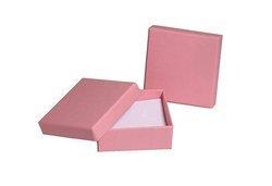 Pudełko jubilerskie 082oks 80x80mm różowy 1sztuka