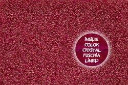 TOHO TR-11-350 InCol Crystal/Fuchsia Lined 10g
