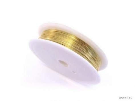 Drucik miedziany złocony 0.6d 1rolka