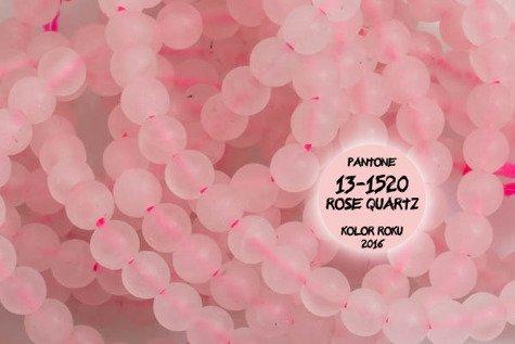 Kamienie Kwarc różowy 5693kp 4mm 1sznur