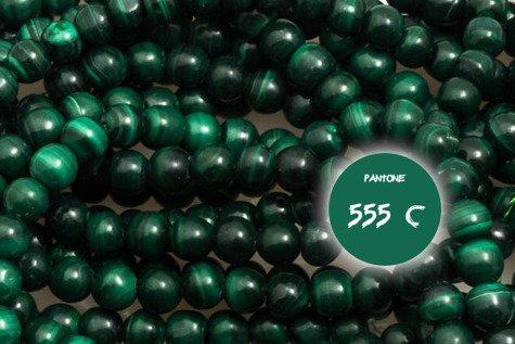 Kamienie Malachit 5666kp 4mm 1sznur