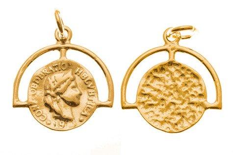 Srebro 925 Zawieszka moneta 837ez 10mm 1szt.