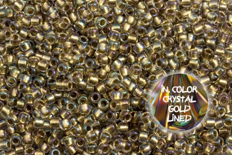TOHO TR-08-262 InColor Crystal Gold Lined 100g