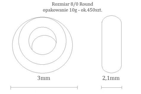 TOHO TR-08-278 G-Lined Topaz 100g